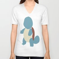 squirtle V-neck T-shirts featuring Squirtle by Kaylabeaisaflea