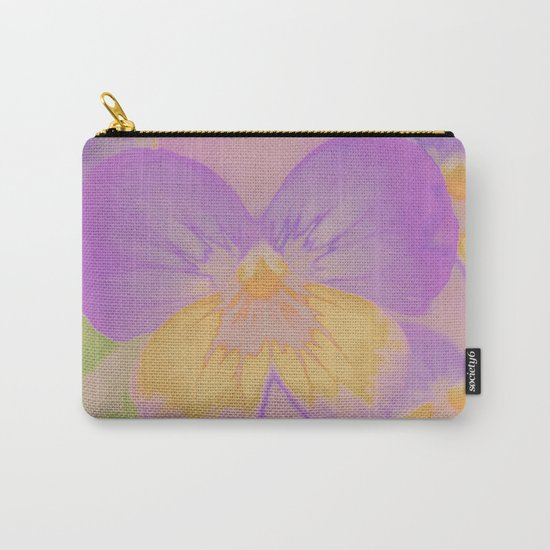 Pansies, The Earth Laughs In Flowers Carry-All Pouch
