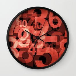 In the Red Wall Clock