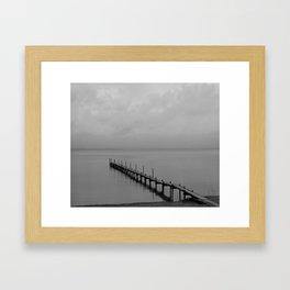 Misty Morning At The Lake Framed Art Print