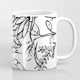 Floral Illustration (clear background) Coffee Mug