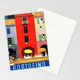Vintage poster - Portofino Stationery Cards
