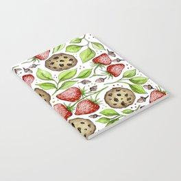 Strawberries and Cookies Design Notebook