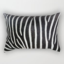 Zebra animal print textured background. Abstract animal print with high resolution scan showing all the detail Rectangular Pillow