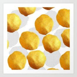 Golden Spots and Polka Dots Art Print