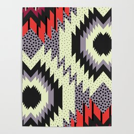 Ethnic fun with dots Poster