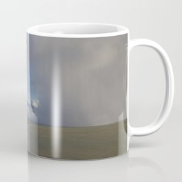Lighthouse and approaching storm Coffee Mug