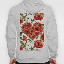 Poppy Heart pattern Hoody