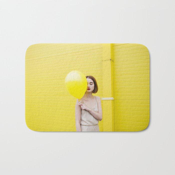 Girl balloon Bath Mat
