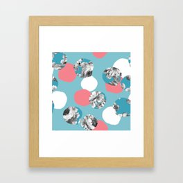 Big crazy confetti dots. Framed Art Print