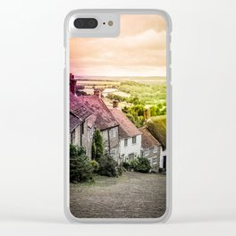 Down a quiet road in Gold Hill, Shaftesbury Clear iPhone Case