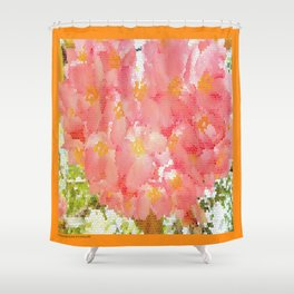 Mexico Blossom Pink & Yellow Flower Shower Curtain