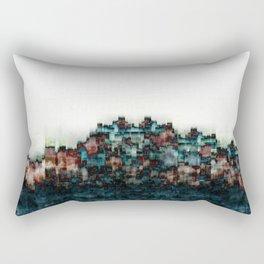 """Indigo Blue Skyline"" Rectangular Pillow"