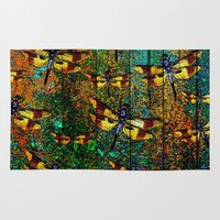 dragonfly Area & Throw Rugs featuring Dragonfly  by Saundra Myles