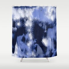 Blue Dandy Shower Curtain