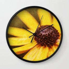 Black-Eyed-Susan Daisy Wall Clock