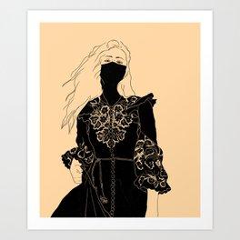 Black Lace // 02 Art Print