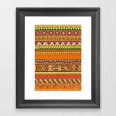 Yzor pattern 012 rich summer Framed Art Print