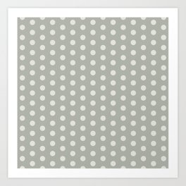 Gray Grey Polka Dots Art Print