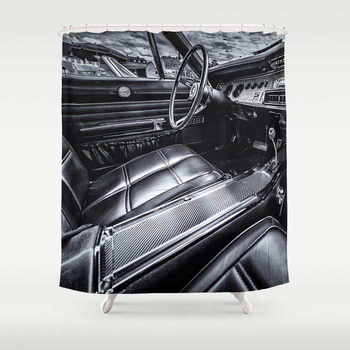 Vintage Car Shower Curtain By Peppetry