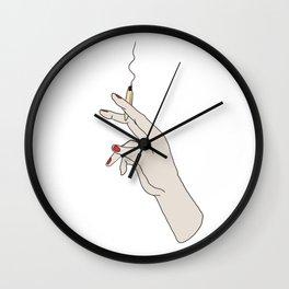 Hand Girl Smoking Joint Wall Clock