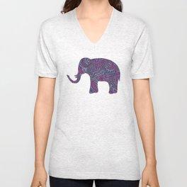 Paisley Elephant Unisex V-Neck
