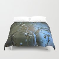jewish Duvet Covers featuring Voir le beau verre  by Brown Eyed Lady