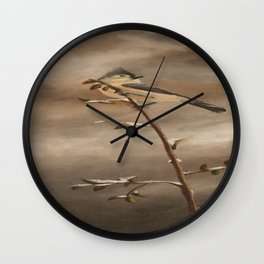 A Lonely Lady Tuft Wall Clock