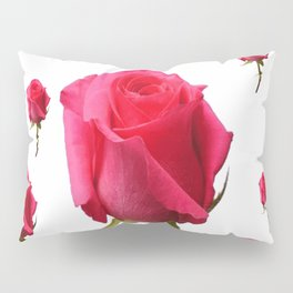 SCATTERED PINK ROSE BUDS FLOWERS Pillow Sham