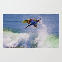 surfer Area & Throw Rugs featuring Surfer by Breathstone Photography