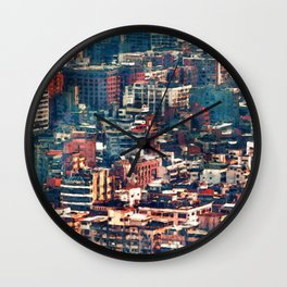 Continuous City Structures Wall Clock