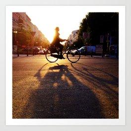 bike/shadow Art Print