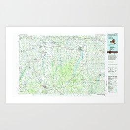 NY Canandaigua 137148 1983 topographic map Art Print