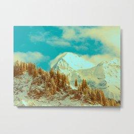 White Mountains in Kandersteg Swiss Metal Print