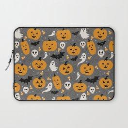 Pumpkin Party in Gray Laptop Sleeve