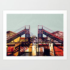 New York fire escapes Art Print