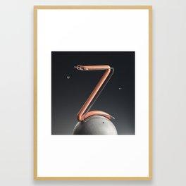 Outer Space Letter Z Framed Art Print