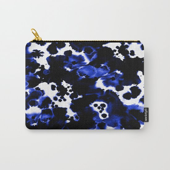 Watercolor indigo india ink boho girly trendy abstract painting brushstrokes dorm college painterly Carry-All Pouch