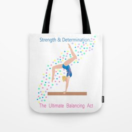 Gymnastics - Ultimate Balancing Act (on Balance Beam) Tote Bag