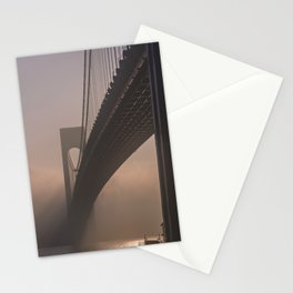 Amazing view of the bridge in the fog Stationery Cards