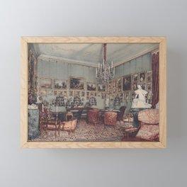Interior In Palace Windischgratz In The Race In Wien 1848 by Rudolf von Alt   Reproduction Framed Mini Art Print