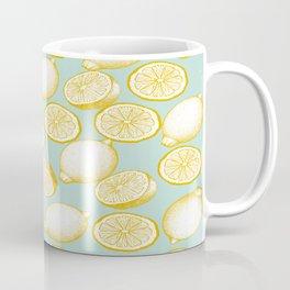 Lemons On Turquoise Background Coffee Mug