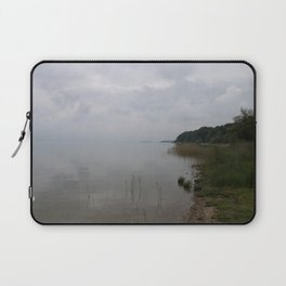 Moody Morning At The Lake Laptop Sleeve