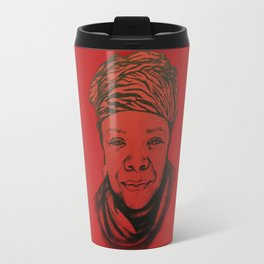 Maya Angelou - (red) Original Sketch to Digital Travel Mug