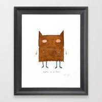 together we are fierce Framed Art Print