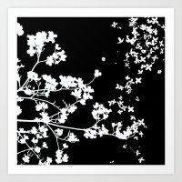 Black Dogwood Art Print