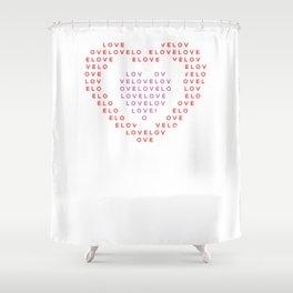 Heart shape of LOVE Shower Curtain