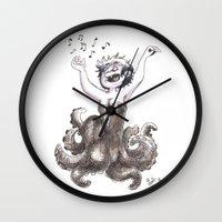 ursula Wall Clocks featuring Ursula by Laeti Vanille