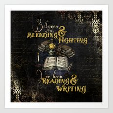 Reading & Writing Art Print