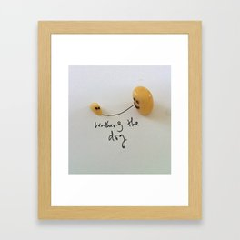 Yogurt Raisin. Framed Art Print